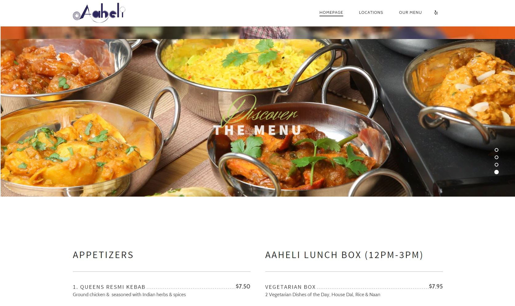 aaheli indian restaurant epic internet marketing